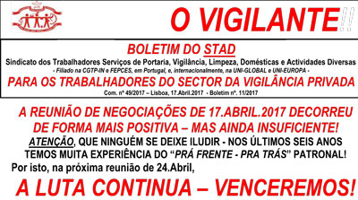 O VIGILANTE - BOLETIM DO STAD